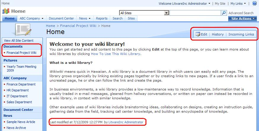 What Is Wiki Page Library And How To Create Wiki Page Library