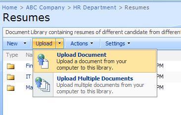 how do you upload a resume