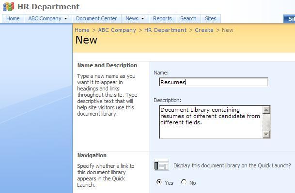 Human Resources Resume - Free Sample Resumes